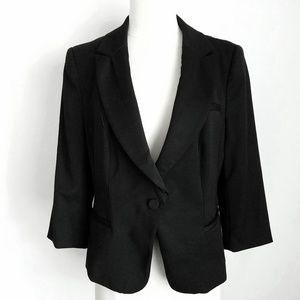 WHBM Black 3/4-Sleeve Blazer- Plus Size